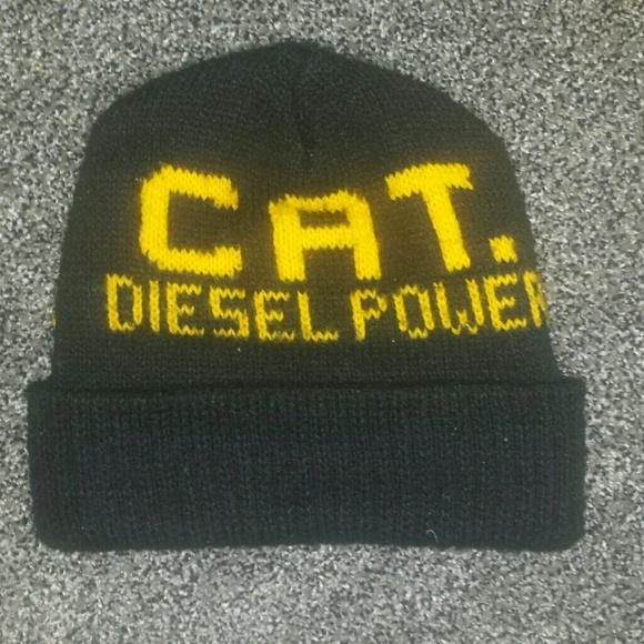 ba44b74256e CAT Diesel Power black winter hat. M 5c3b8b6ec9bf50d0777a6f5b